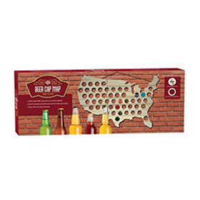 Beer Cap Map of The USA