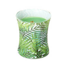 Woodwick® 9.7oz. Decal Hourglass Palm Leaf Candle