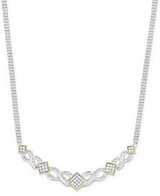 Wrapped in Love™ Diamond Frontal Necklace (1 ct. t