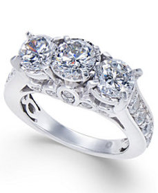 Diamond Trinity Engagement Ring (3 ct. t.w.) in 14