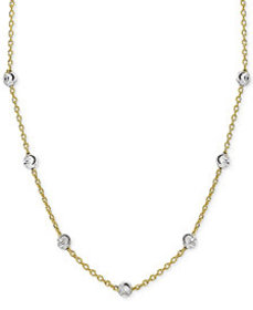 Giani Bernini Beaded Station Chain Necklace in 18k