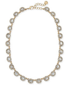 Charter Club Gold-Tone Crystal Collar Necklace, 17