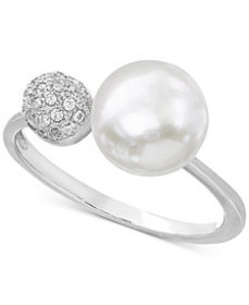Cultured Freshwater Pearl (8mm) & Cubic Zirconia R