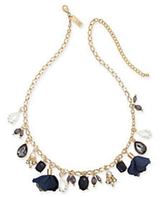 I.N.C. Gold-Tone Multi-Charm Collar Necklace, 16""