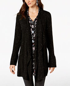 Style & Co Bell-Sleeve Draped Cardigan, Created fo