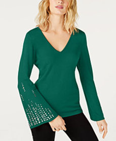 I.N.C. Embellished Bell-Sleeve Top, Created for Ma