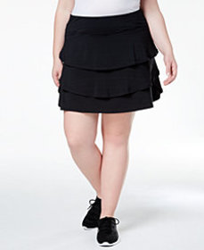 Ideology Plus Size Ruffled Skort, Created for Macy