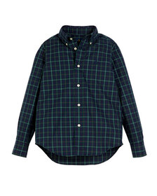Ralph Lauren Childrenswear Poplin Plaid Button-Dow