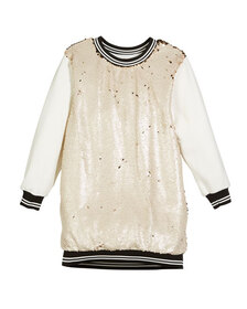 Hannah Banana Sequin-Front Sweatshirt Dress Size 4