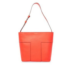 Tory BurchBlock-T Pebbled Leather Tote- Spicy Oran
