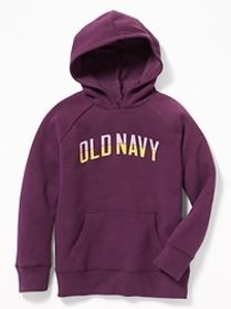 Relaxed Logo-Graphic Hoodie for Girls