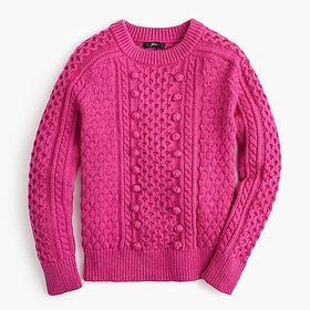 Popcorn cable-knit sweater