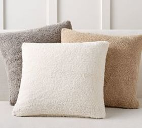 Cozy Teddy Faux Fur Pillow Cover on sale at Pottery Barn