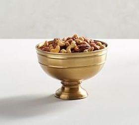 Antique Gold Footed Snack Bowl