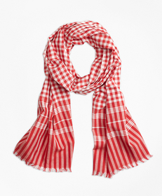 Gingham Cotton Scarf