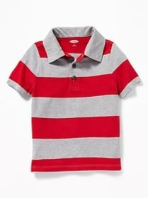 Rugby-Stripe Polo for Toddler Boys