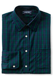 Men's Tailored Fit Pattern No Iron Supima Pinpoint