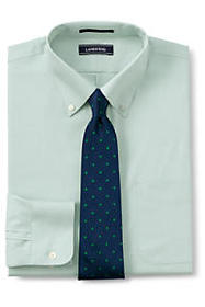 Men's Solid Tailored Fit No Iron Supima Pinpoint B