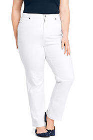 Women's High Rise Straight Leg Jeans - Stain Repel