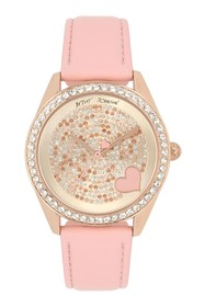 Betsey Johnson Women's Crystal Embellished Watch