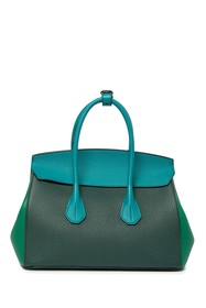 BALLY Colorblock Leather Top Handle Bag
