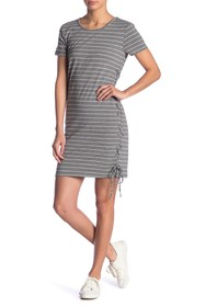 C & C California Scoop Neck Lace-Up Dress