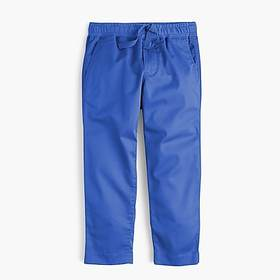 Boys' stretch-cotton pull-on pant with reinforced
