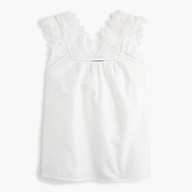 Embroidered bib top