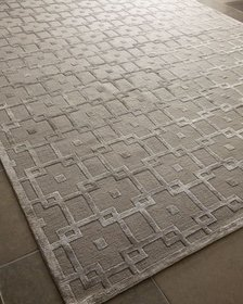 Exquisite Rugs Silver Blocks Rug 9' x 12'