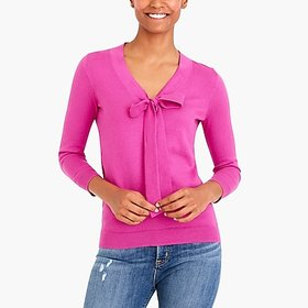 factory womens Bow v-neck sweater
