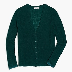 factory womens Lace-sleeve cardigan