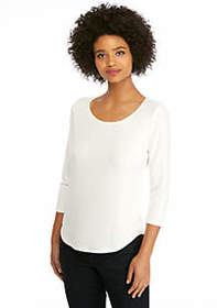 Three-Quarter Sleeve Fashion Tee