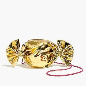 Girls' holiday gold candy bag