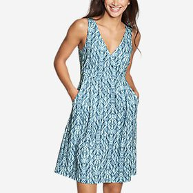 Women's Aster Crossover Dress - Print