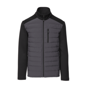 MEN'S SOFT STRETCH MIX MEDIA DOWN JACKET