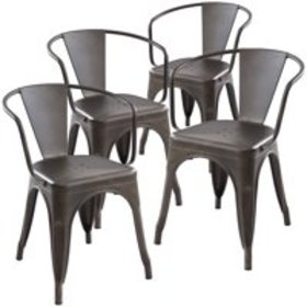 Poly and Bark Trattoria Arm Chair in Bronze (Set o
