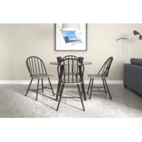 Novogratz Leo Round Dining Table & 4 Dining Chairs