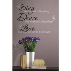RoomMates Peel and Stick Decor Wall Decals. Sing,
