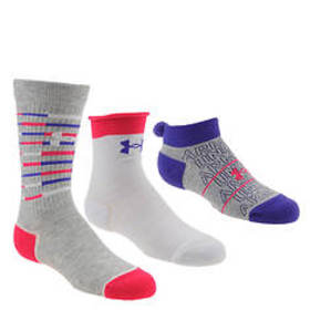 Under Armour Girls' Triple Play 3-Pack Socks