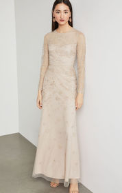 Two-Tone Metallic Embroidered Gown