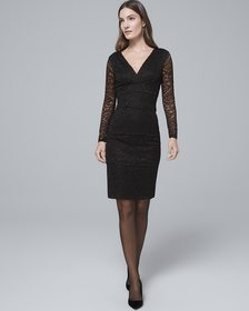 Black Lace Instantly Slimming Sheath Dress