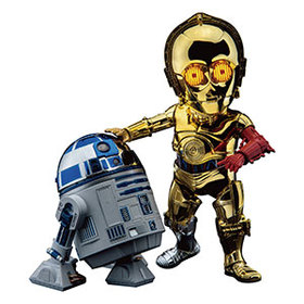 Star Wars C-3PO and R2-D2 Chrome Figure Set - Excl