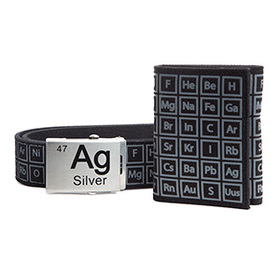 Periodic Table Belt and Wallet Gift Set