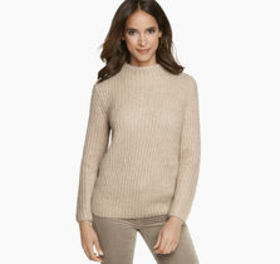 Metallic Mockneck Sweater