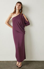 Cascading One-Shoulder Gown