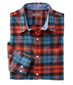 Signature Stretch Flannel Shirt, Slimmest Fit Plai