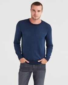 Plaited Crewneck Sweater in Navy