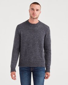 Mohair Crewneck Sweater in Charcoal