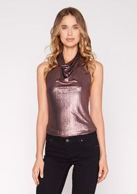 Josie Halter Metallic Top