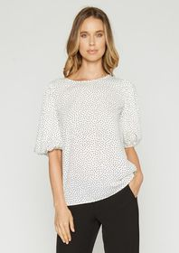 Paige Polka Dot Bardot Top